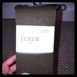 Brand new J.Crew tights. Army green/taupe color